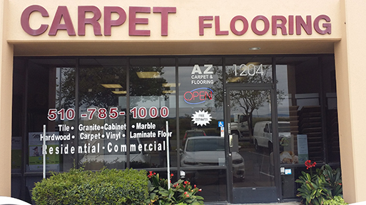 AZ Carpet Flooring storefront in Hayward, California